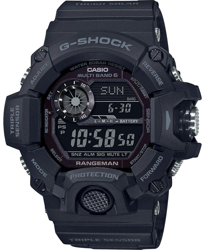 G-Shock - Men's Solar Digital Rangeman Black Resin Strap Watch 53-1/2mm