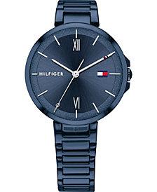 Tommy Hilfiger Women's Blue Stainless Steel Bracelet Watch 34mm
