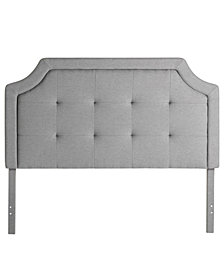 Dream Collection by LUCID Upholstered Headboard with Square Tufting, King
