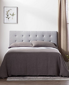 Dream Collection by LUCID Square Tufted Mid Rise Headboard, King