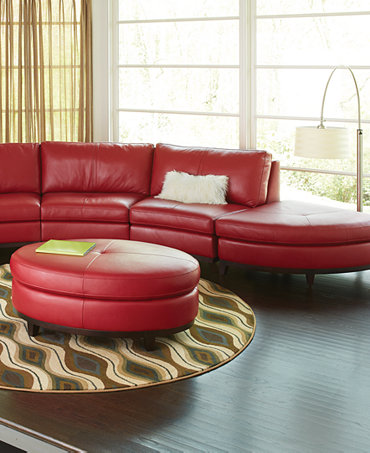 Lyla Leather Sectional Living Room Furniture Sets Pieces
