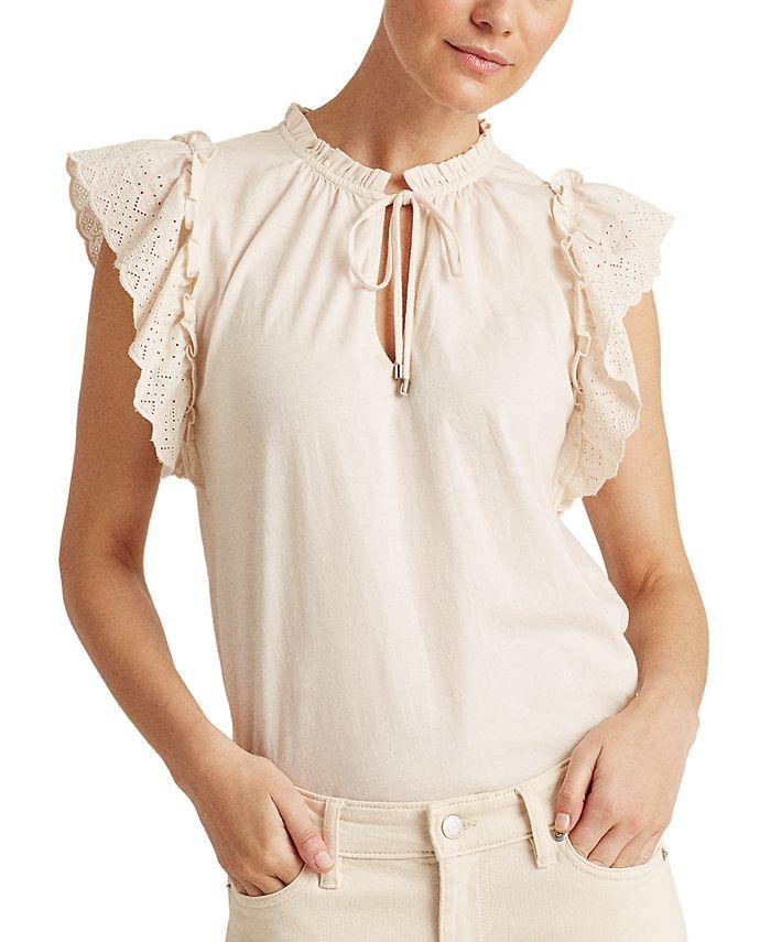 Lauren Ralph Lauren - Ruffled Cotton Top