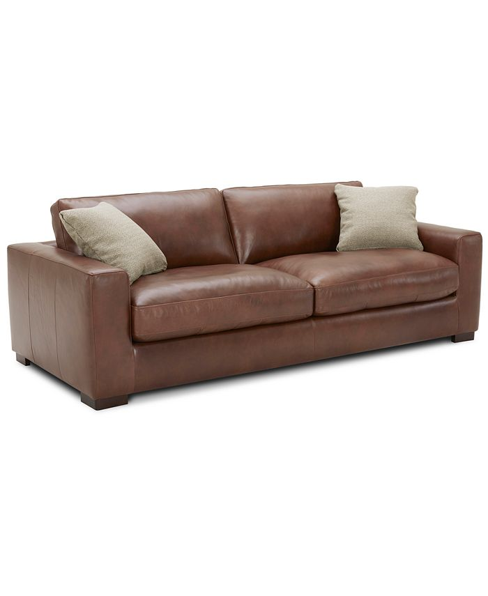 """Furniture - Chelby 89"""" Leather Sofa"""