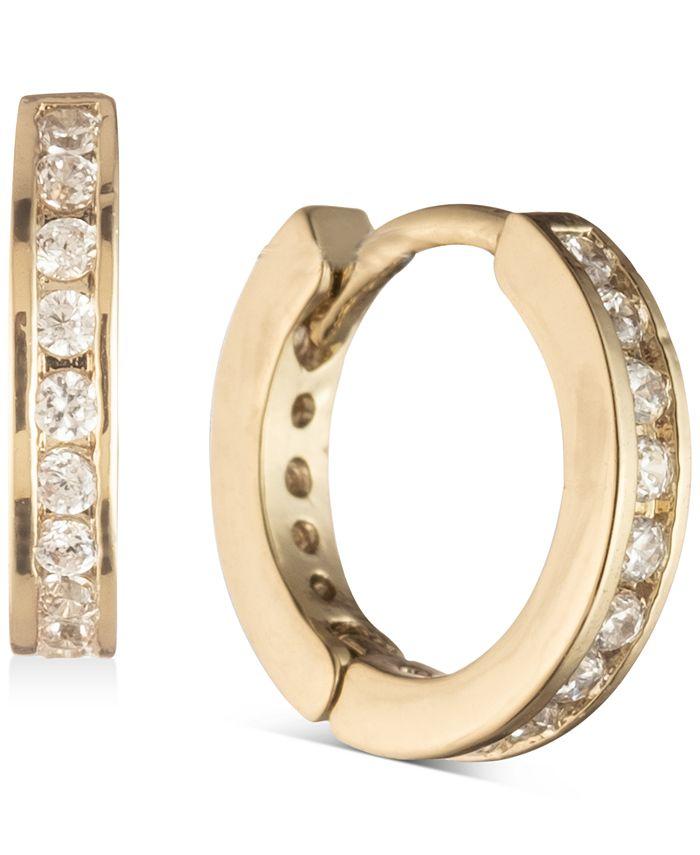 Givenchy - Gold-Tone Pavé Mini Huggie Hoop Earrings