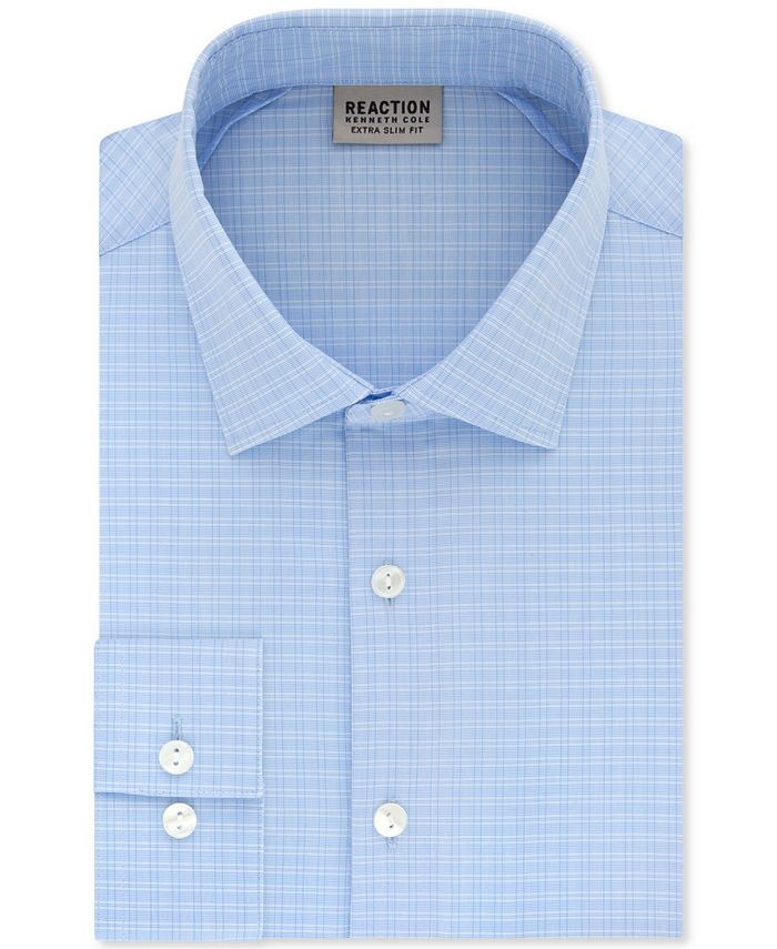 Kenneth Cole Reaction - Men's Extra-Slim Fit Non-Iron Stretch Check Dress Shirt