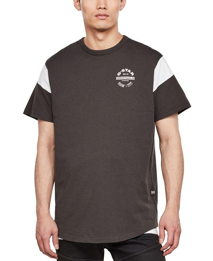 G-Star Raw - Men's Blocked Sleeve Logo T-Shirt