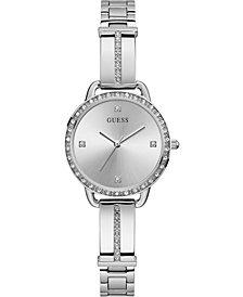 GUESS Women's Stainless Steel Semi-Bangle Bracelet Watch 30mm