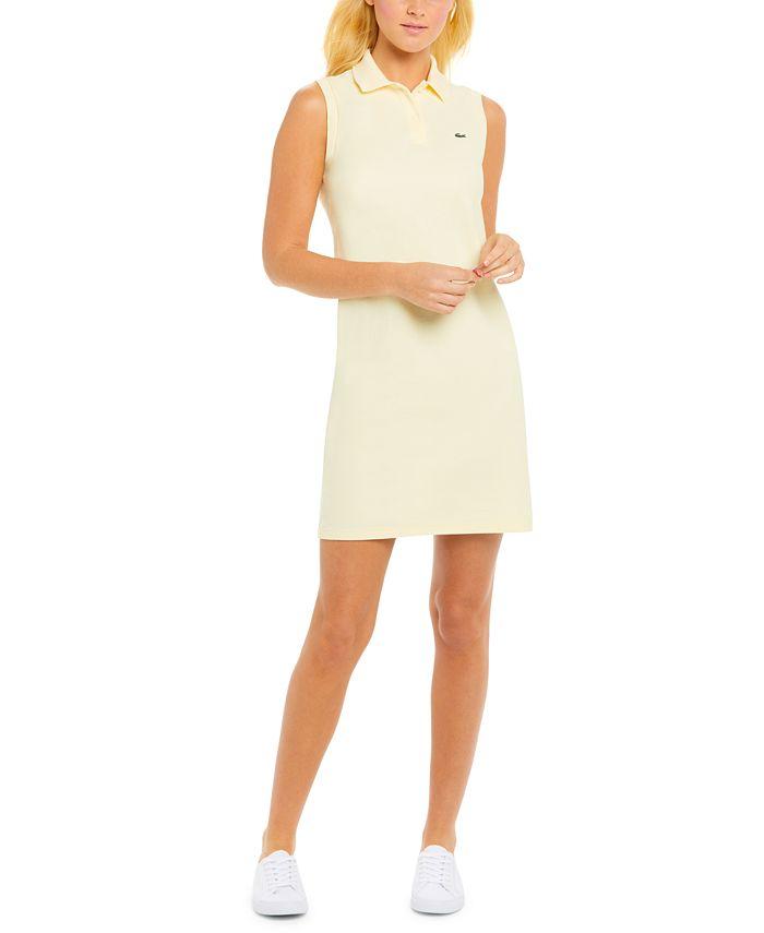 Lacoste - Sleeveless Cotton Piqué Polo Dress