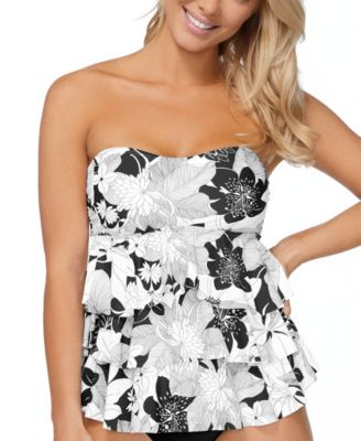 Aloha Bloom Printed Tiered Tankini Top, Created for Macy's
