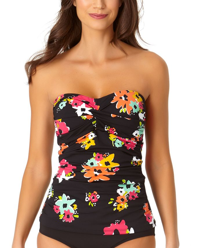 Anne Cole - Island Bloom Twist Bandeau Tankini Top