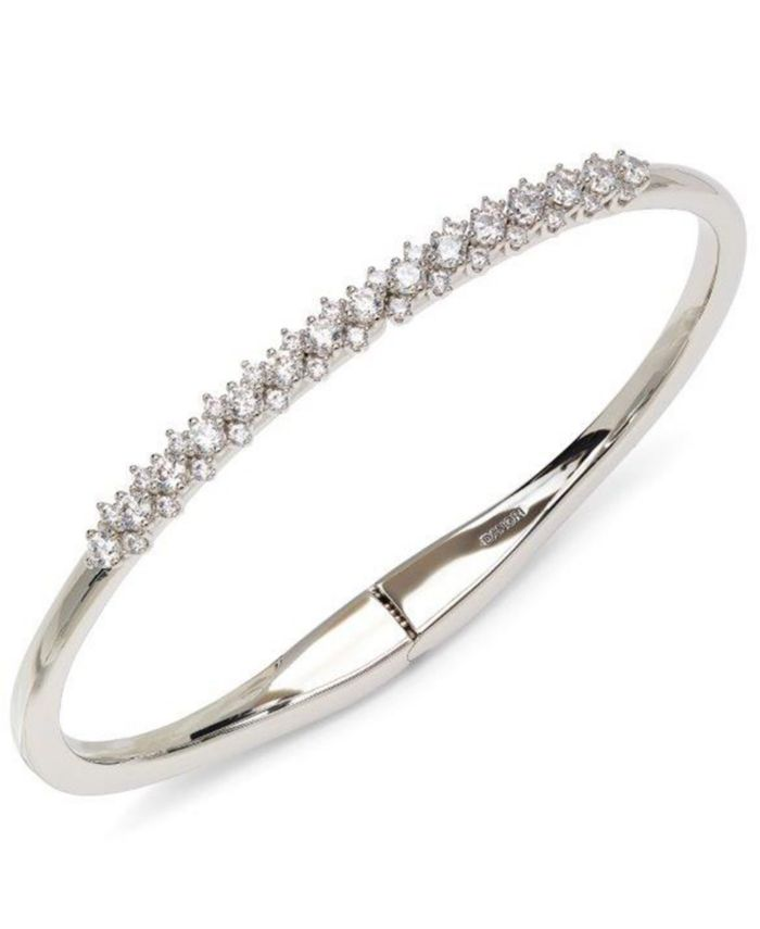 Eliot Danori Silver-Tone Cubic Zirconia Lace Bangle Bracelet, Created for Macy's & Reviews - Bracelets - Jewelry & Watches - Macy's