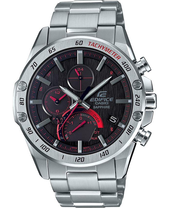 G-Shock - Men's Solar Connected  Stainless Steel Bracelet Watch 45.6mm
