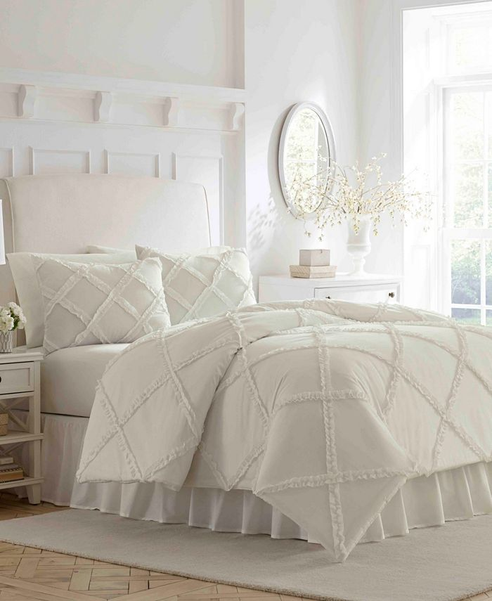 Laura Ashley - Maeve Ruffle Queen Comforter Set