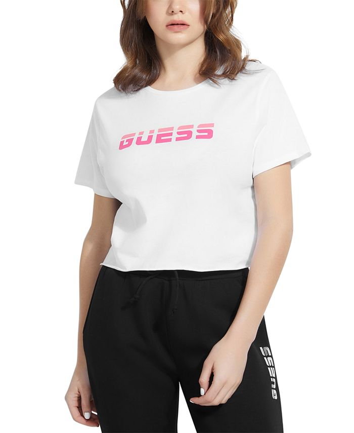 GUESS - Cropped Mesh-Back Logo Top