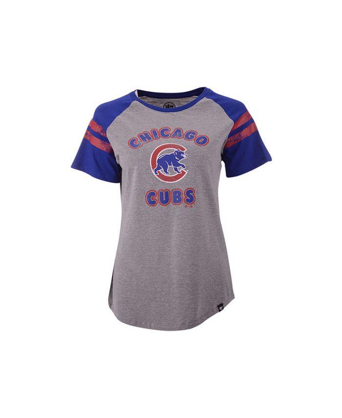 '47 Brand - Women's Chicago Cubs Fly Out Raglan T-shirt