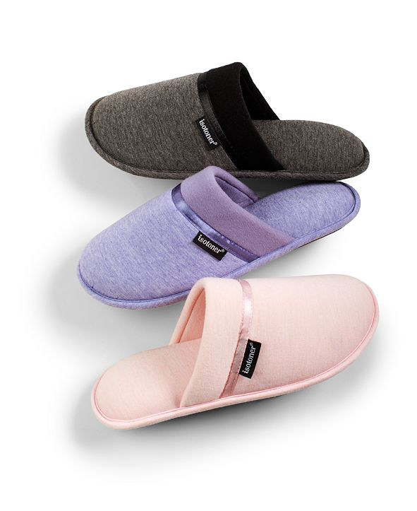Isotoner Signature Women's Jersey Cambell Clog Slippers With Memory Foam