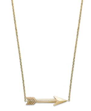 Macy's - 14k Gold Necklace, Arrow Pendant