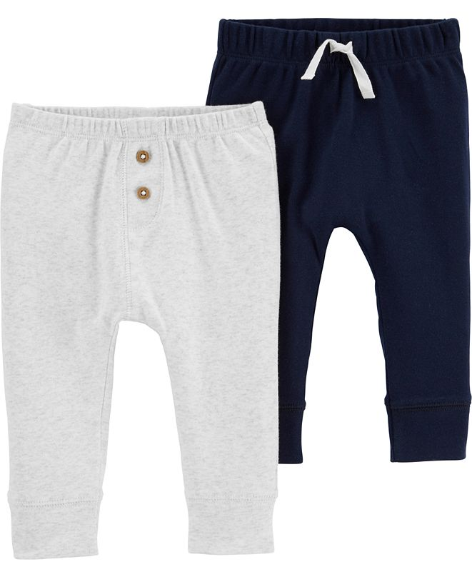 Carter's Baby Boys 2-Pack Pull-On Cotton Pants