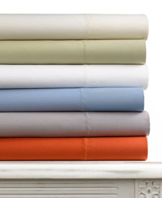 CLOSEOUT! Martha Stewart Collection Tide Ridge 300 Thread Count Queen Sheet Set
