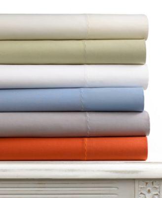 CLOSEOUT! Martha Stewart Collection Tide Ridge 300 Thread Count King Sheet Set