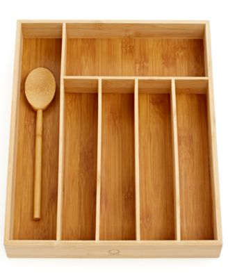 Martha Stewart Collection Bamboo Flatware Organizer
