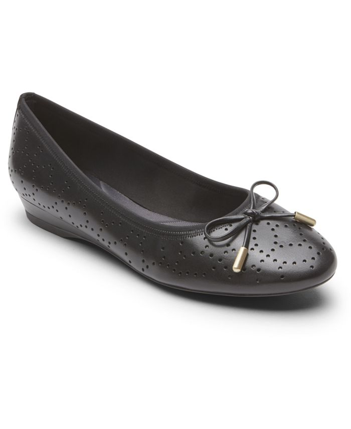 Rockport - Women's Total Motion Shea Perforated Bow Flats