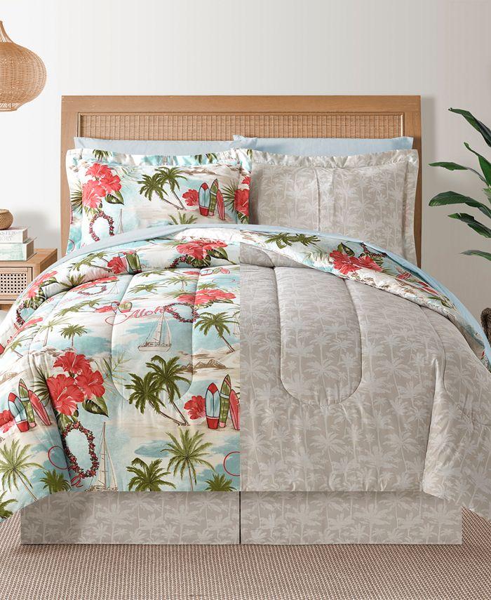 Sunham - Hawaii Multi 8Pc Queen Comforter Set