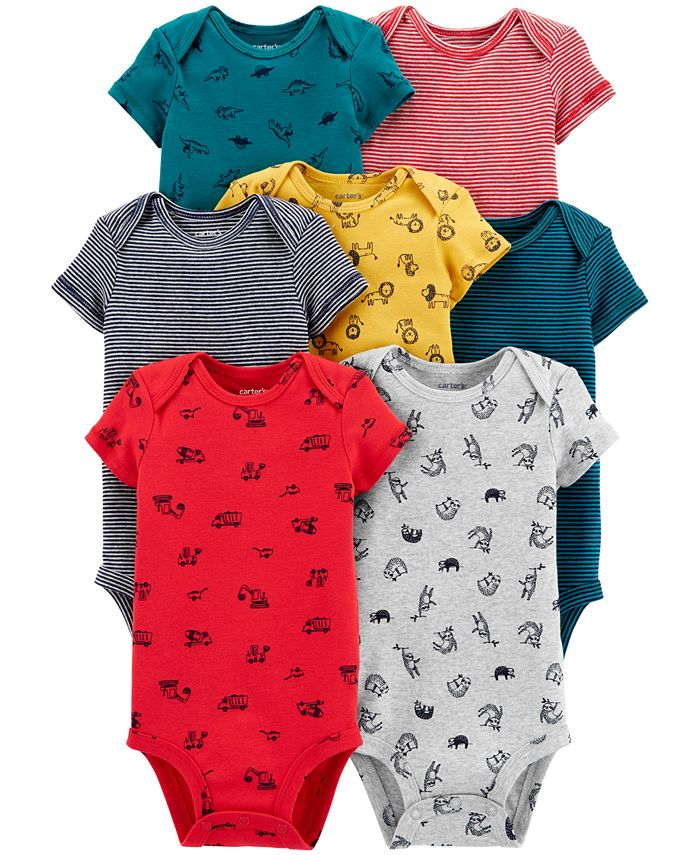 Carter's - Baby Boys 7-Pack Printed Cotton Bodysuits