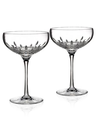 Waterford Stemware, Lismore Essence Champagne Saucers, Set of 2