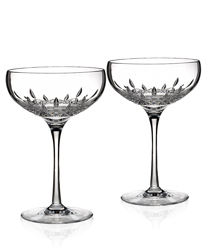 Waterford - Set of 2 Lismore Essence Champagne Saucers