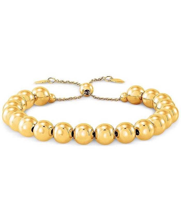Giani Bernini - Beaded Bolo Bracelet in Sterling Silver or 18k Gold Over Silver