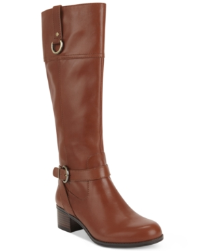 Bandolino Chamber Wide-Calf Tall Riding Boots Womens Shoes