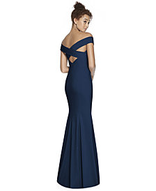 Dessy Collection Off-The-Shoulder Maxi Dress