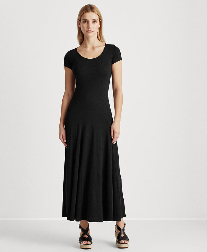Lauren Ralph Lauren - Jersey Scoop Neck Maxidress