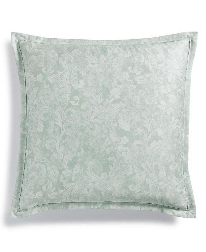 Charter Club - Sleep Luxe Cotton 800-Thread Count Printed Aloe Scroll European Sham, Created for Macy's
