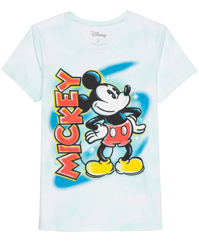 Disney Juniors' Mickey Mouse Tie-Dyed T-Shirt
