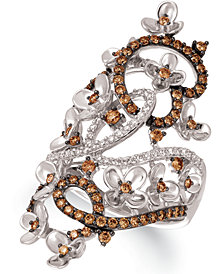 Le Vian Crazy Collection® Diamond Fancy Scroll Floral Ring (1-1/6 ct. t.w.) in 14k Rose, Yellow or White Gold