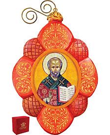 G.DeBrekht Hand Painted Saint Nick Scenic Ornament