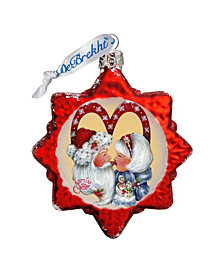 G.DeBrekht So Much in Love Hand Painted Glass Ornament