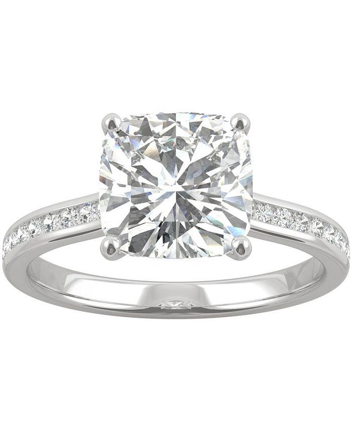 Charles & Colvard - Moissanite Cushion Engagement Ring (2-5/8 ct. t.w. DEW) in 14k White Gold