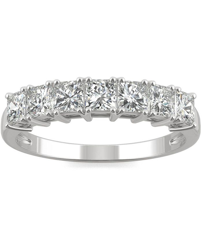 Charles & Colvard - Moissanite Princess-Cut Band (2-7/8 ct. t.w. DEW) in 14k White Gold