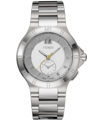 fendi timepieces s stainless steel logo
