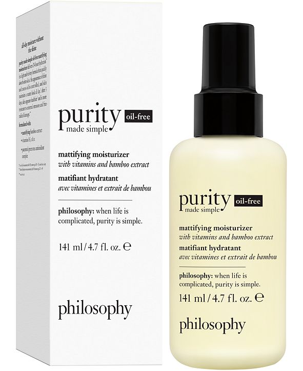 philosophy Purity Made Simple Oil-Free Mattifying Moisturizer, 4.7-oz.