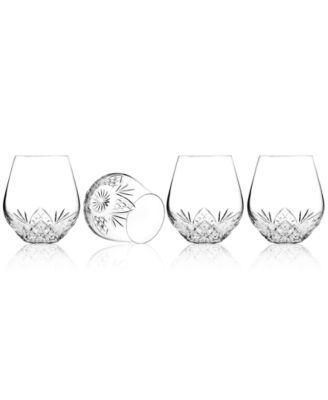 Godinger Barware, Dublin Set of 4 Stemless Goblets