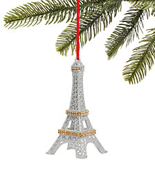 Holiday Lane Fashion Week, Glitter Eiffel Tower Ornament, Created for Macy's