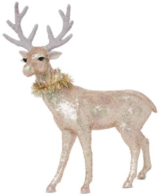 Shimmer and Light Deer with Tinsel Collar, Created for Macy's