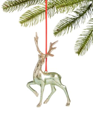 Shimmer & Light,  Gold & Mint Reindeer Ornament, Created for Macy's