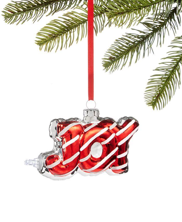 Holiday Lane - Peppermint Twist JOY Christmas Ornament