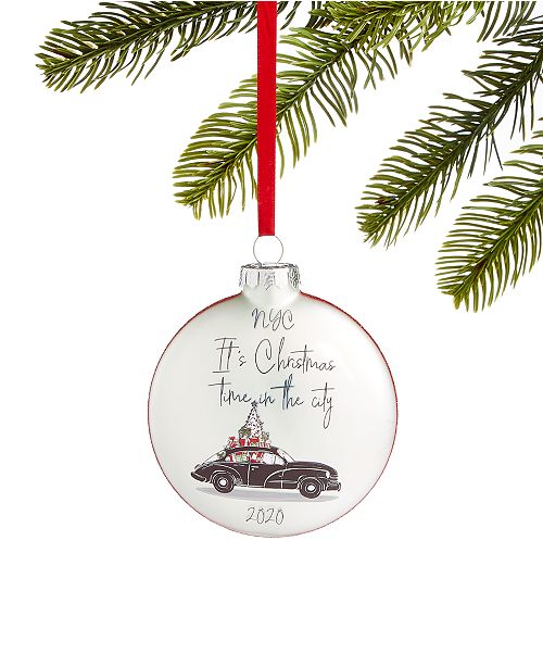 Macys Christmas Decorations 2020 Holiday Lane New York 2020 Glass Ornament, Created for Macy's