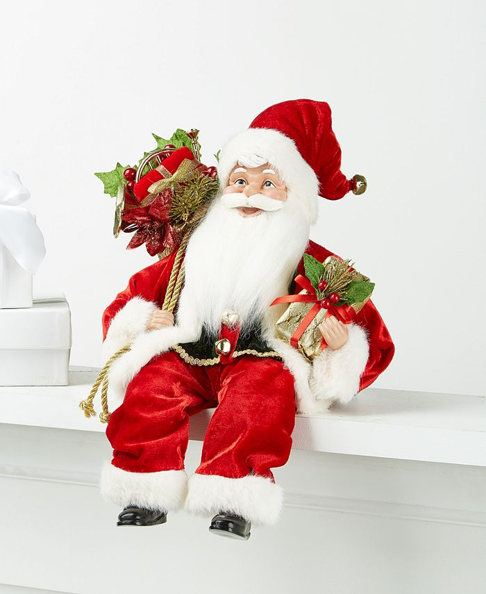 Holiday Lane - Seated Santa in Red